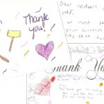 A thank you cards from a child.